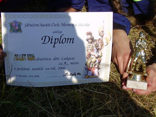 Diplom družstva žáků