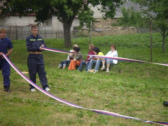 Štafeta - příprava hadic - Petr Svatek