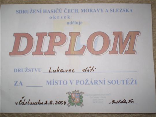 Diplom mladých hasičů